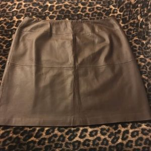 Leather Pencil Skirt -Chocolate Brown -Sz. 24